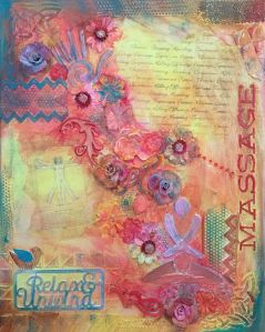 Mixed media massage collage