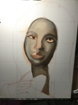 Underpainting of portrait
